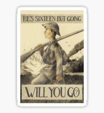 Will You Go? Sticker