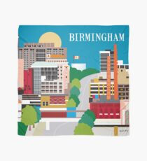 Birmingham, Alabama - Skyline Illustration by Loose Petals Scarf