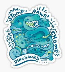 Dino Squad in Green  Sticker