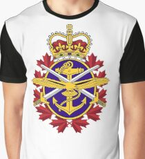Badge of the Canadian Armed Forces Graphic T-Shirt