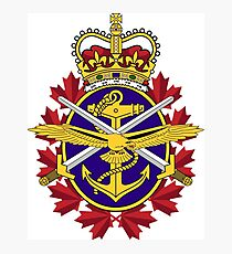 Badge of the Canadian Armed Forces Photographic Print