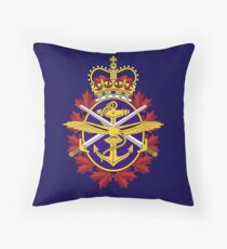 Badge of the Canadian Armed Forces Throw Pillow