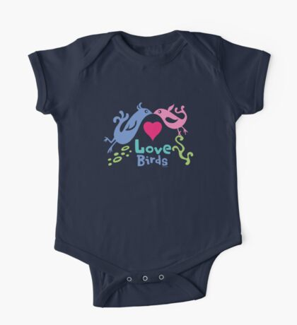 Love Birds - light colors Kids Clothes