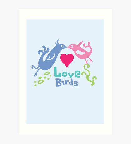 Love Birds - light colors Art Print