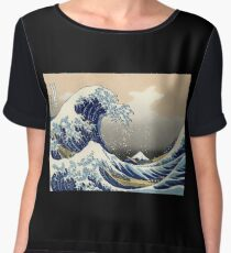 'The Great Wave Off Kanagawa' by Katsushika Hokusai (Reproduction) Chiffon Top