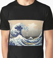 """Die große Welle vor Kanagawa"" von Katsushika Hokusai (Reproduktion) Grafik T-Shirt"