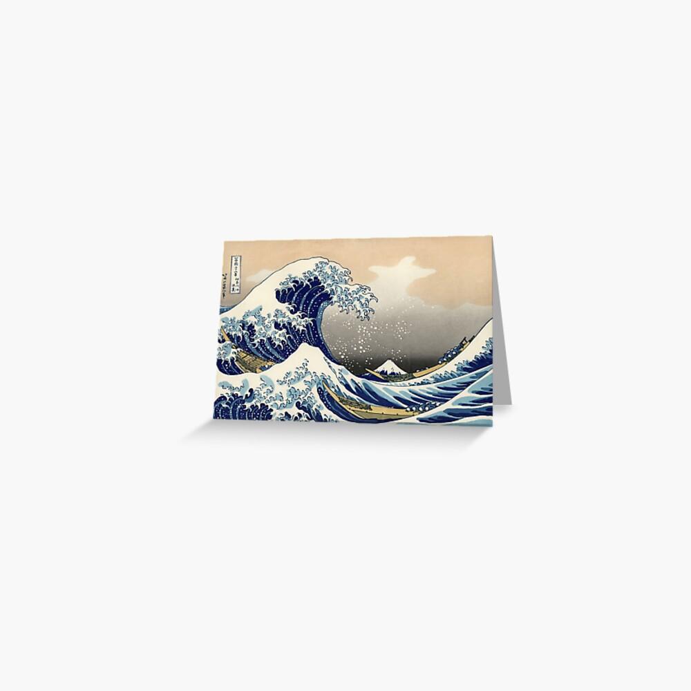 """""""Die große Welle vor Kanagawa"""" von Katsushika Hokusai (Reproduktion) Grußkarte"""