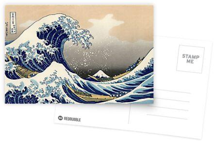 """""""Die große Welle vor Kanagawa"""" von Katsushika Hokusai (Reproduktion) von Roz Abellera"""