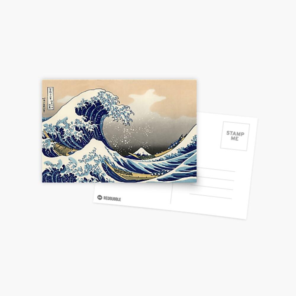 """""""Die große Welle vor Kanagawa"""" von Katsushika Hokusai (Reproduktion) Postkarte"""
