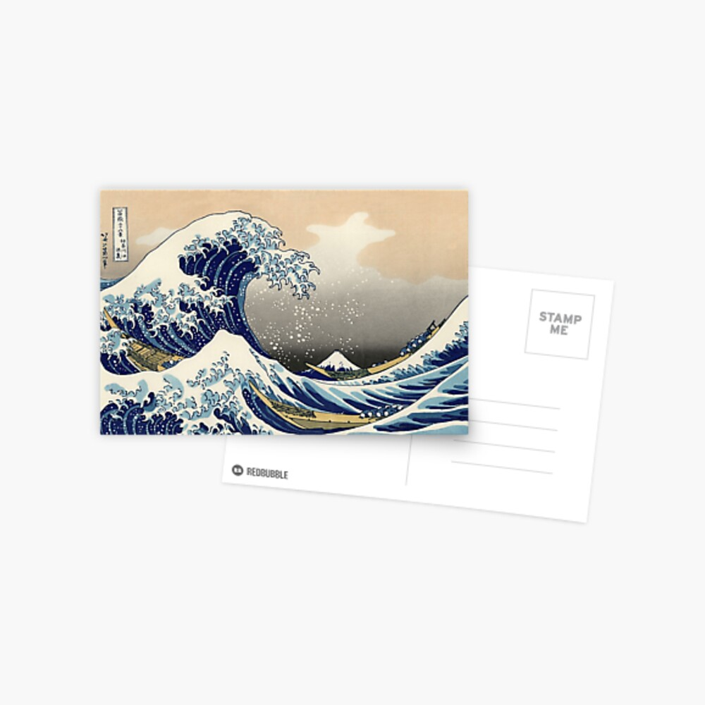 'The Great Wave Off Kanagawa' by Katsushika Hokusai (Reproduction) Postcard