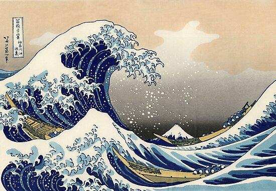 'The Great Wave Off Kanagawa' by Katsushika Hokusai (Reproduction) by Roz Abellera