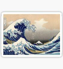 'The Great Wave Off Kanagawa' by Katsushika Hokusai (Reproduction) Sticker