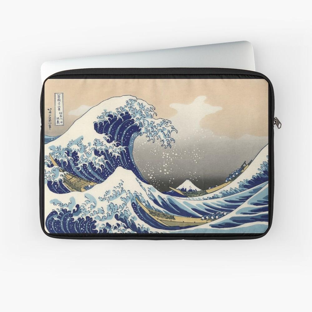 'The Great Wave Off Kanagawa' by Katsushika Hokusai (Reproduction) Laptop Sleeve