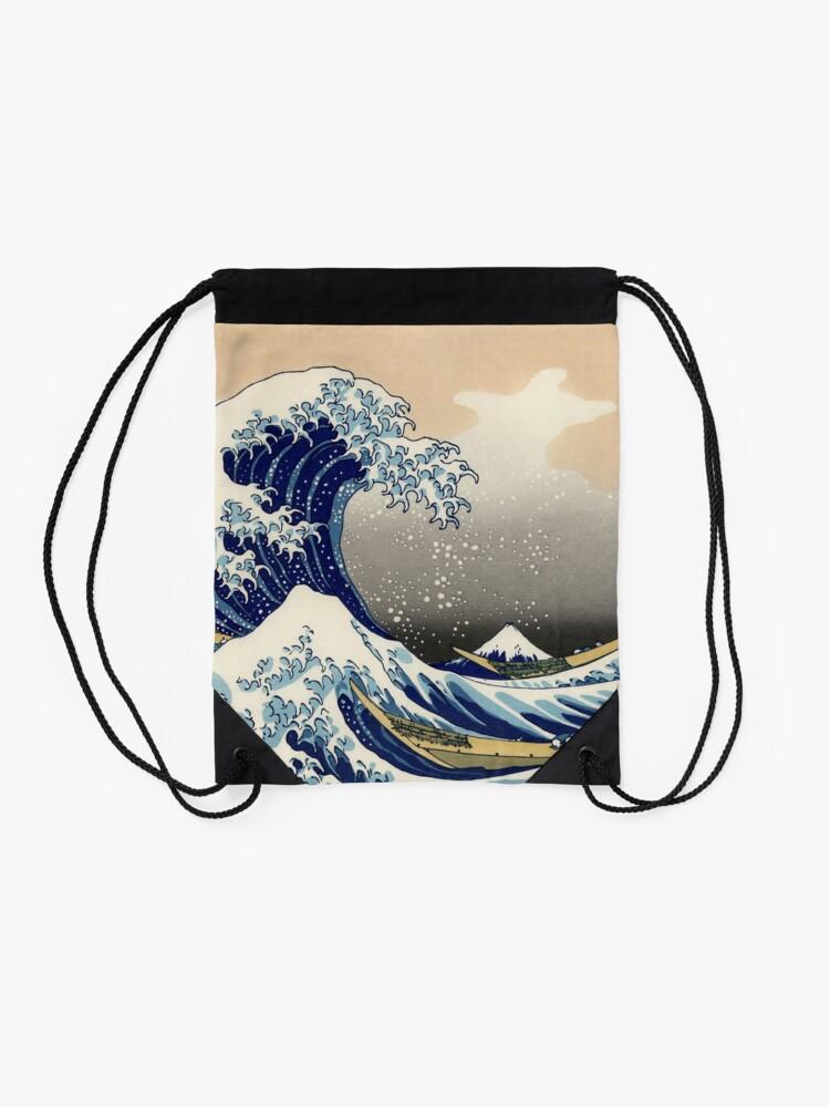 """Alternative Ansicht von """"Die große Welle vor Kanagawa"""" von Katsushika Hokusai (Reproduktion) Turnbeutel"""