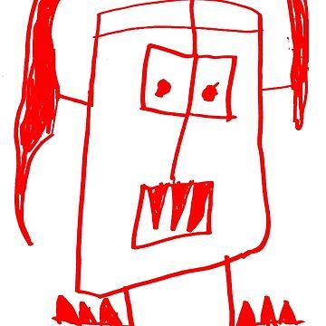 Monsters By Gusten #5 RED by oskardahlbom