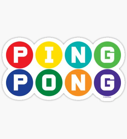 Ping Pong - primary colors Sticker