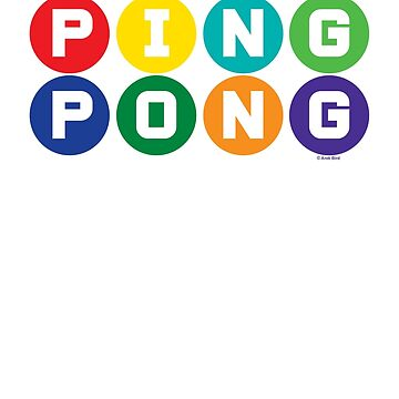 Ping Pong - primary colors by andibird