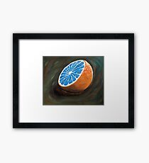 Elusive Blue Blood Orange Framed Print