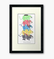 Lion Stack Framed Print