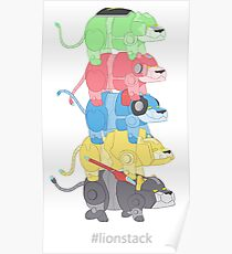 Lion Stack Poster