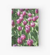 Keukenhof Gardens - Purple Tulips  Hardcover Journal