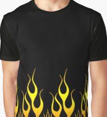 Black Flames Graphic T-Shirt