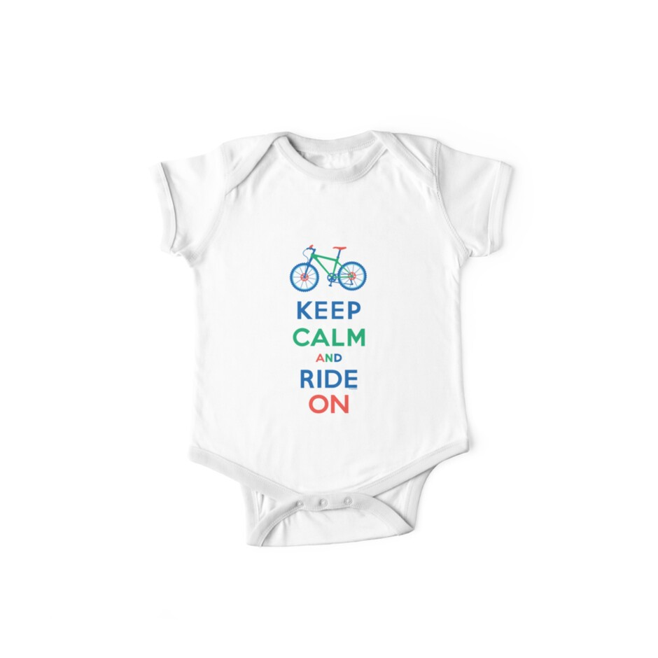 Keep Calm and Ride On - mountain bike - primary by Andi Bird