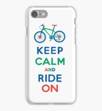 Keep Calm and Ride On - mountain bike - primary iPhone Case/Skin