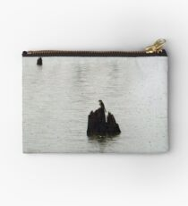Warbler In The Rain Studio Pouch