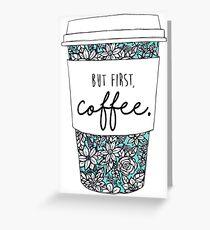 Floral Coffee Greeting Card