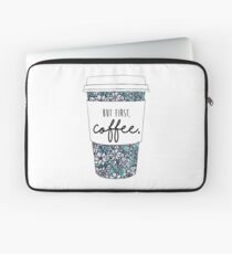 Floral Coffee Laptop Sleeve