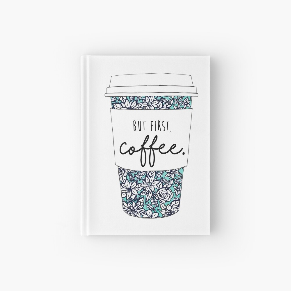 Floral Coffee Hardcover Journal
