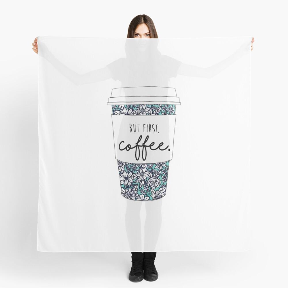Blumenkaffee Tuch