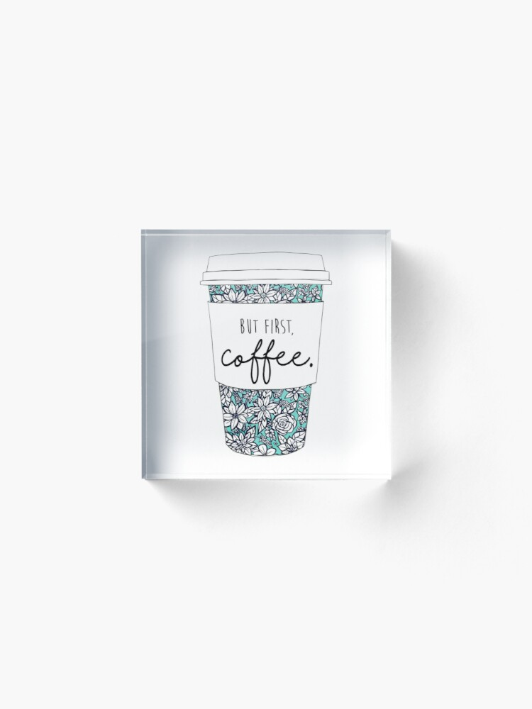 Alternate view of Floral Coffee Acrylic Block