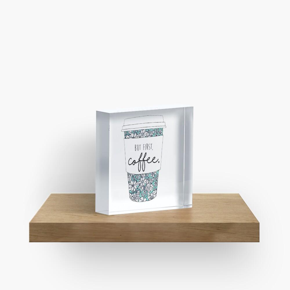 Floral Coffee Acrylic Block