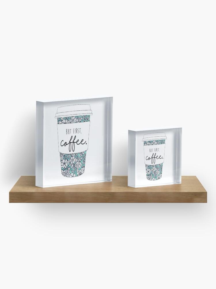 Alternative Ansicht von Blumenkaffee Acrylblock