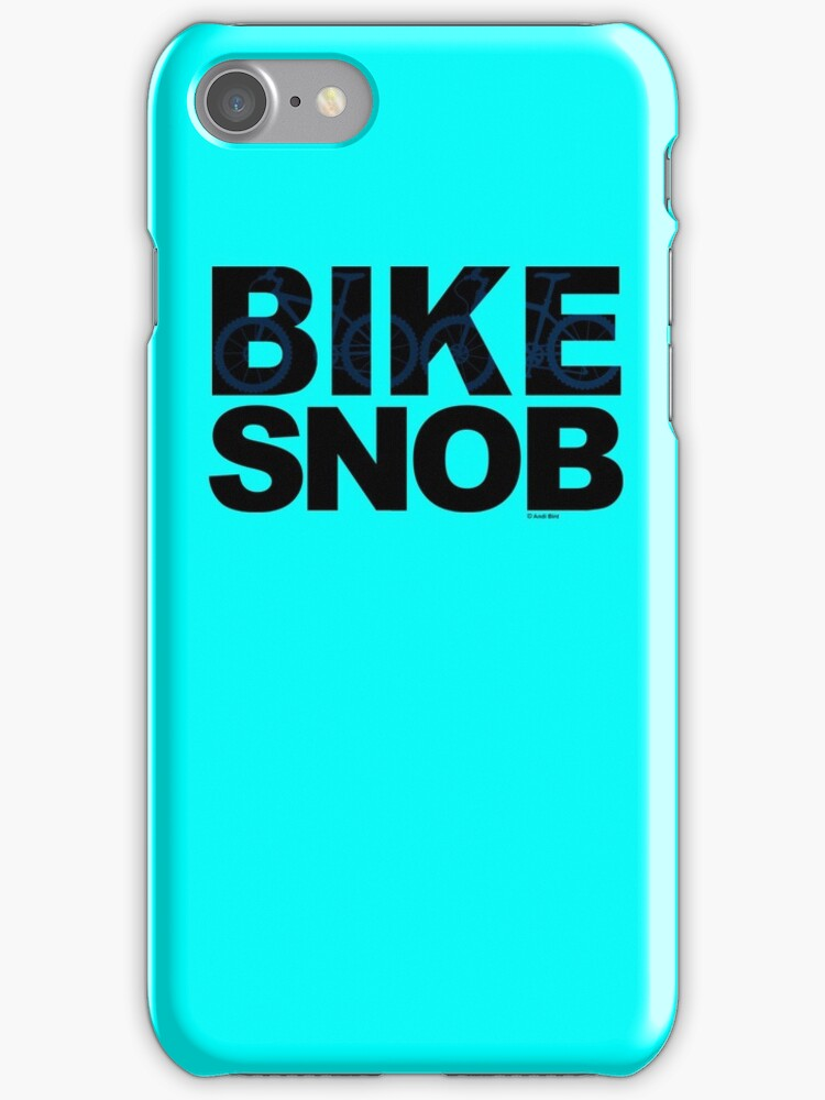 Bike Snob / bicycle snob - blue by Andi Bird