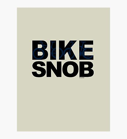 Bike Snob / bicycle snob - blue Photographic Print