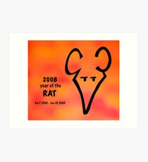 Year of the Rat Art Print