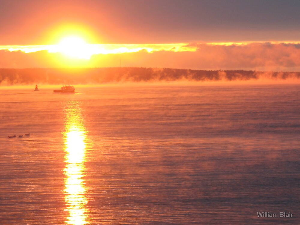 Sunrise at St John by William Blair