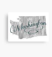 Washington State Typography Canvas Print