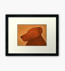 Pit Bull orange puppy  Framed Print