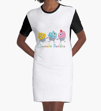 Cupcake Buddies Graphic T-Shirt Dress