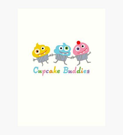 Cupcake Buddies Art Print