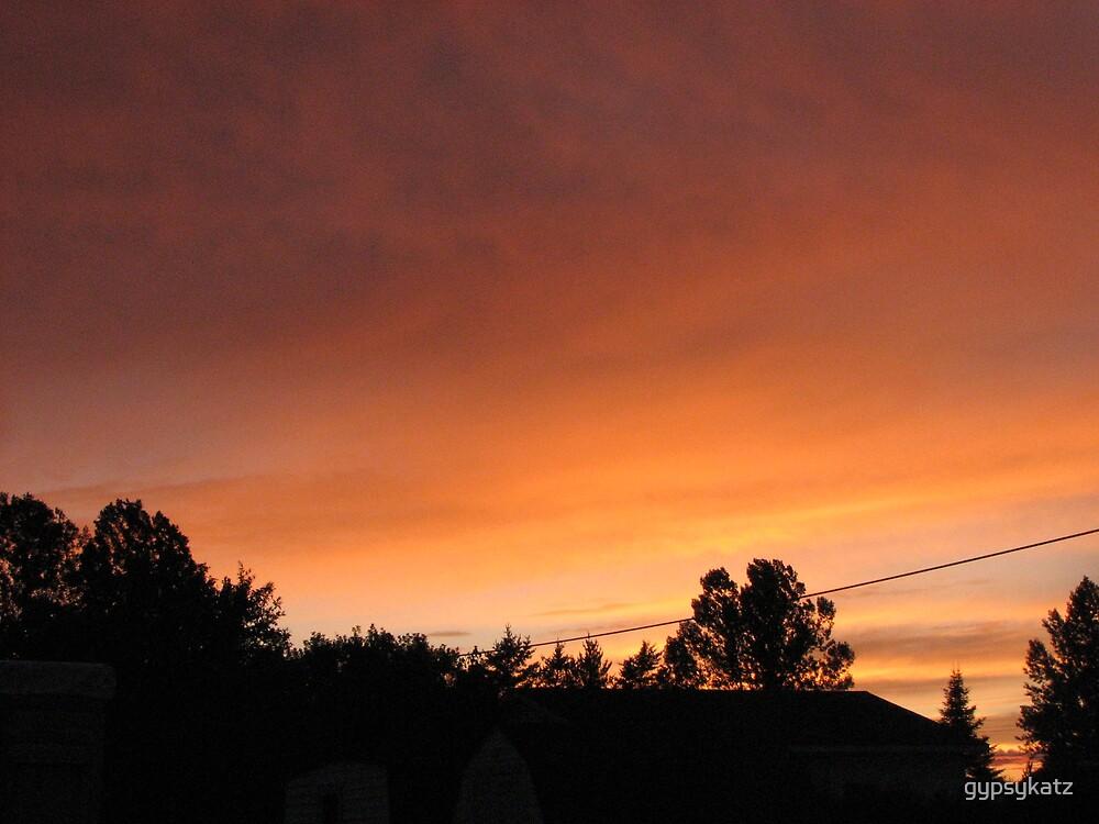 Our Azilda evening sky by gypsykatz