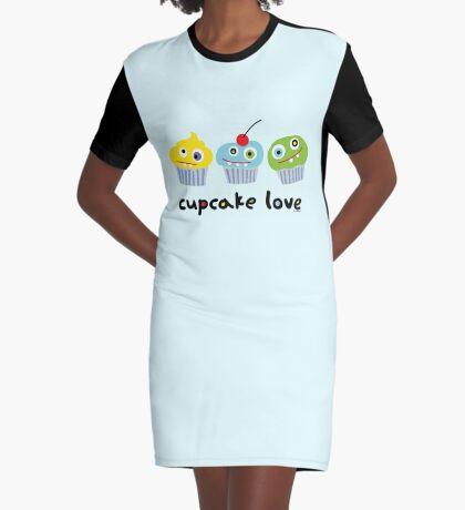 Cupcake Love ll Graphic T-Shirt Dress