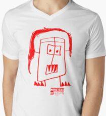 Monsters By Gusten #5 RED Men's V-Neck T-Shirt