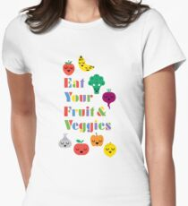 Eat Your Fruit & Veggies lll Women's Fitted T-Shirt