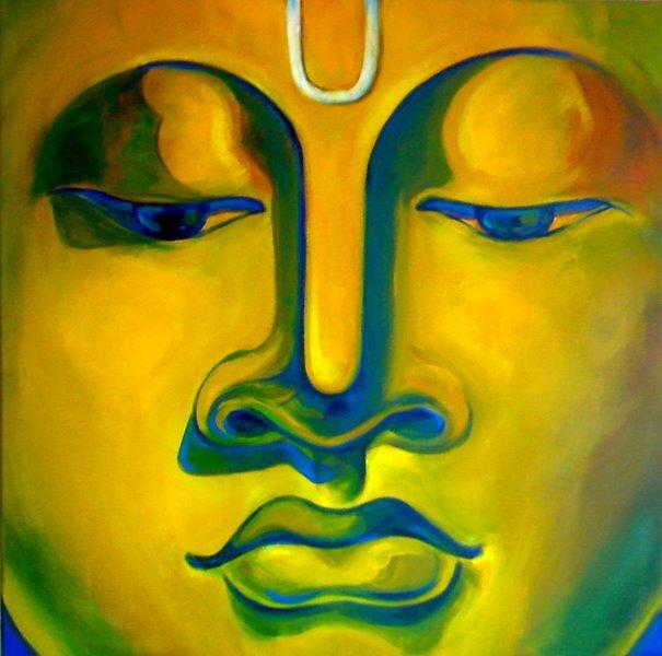 The Devine Face. 30 by 30 inches. by SanjayKulkarni
