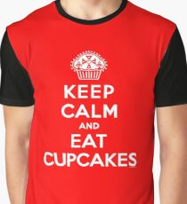 Keep Calm and Eat Cupcakes - white type Graphic T-Shirt